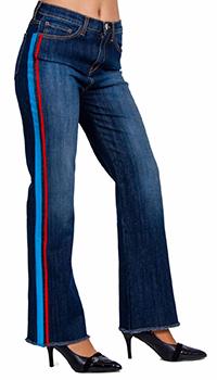 Женские джинсы Beatrice.B синего цвета с лампасами, фото