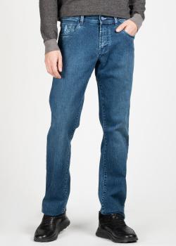 Прямые джинсы Scissor Scriptor с брендовой вышивкой, фото