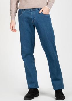 Синие джинсы Scissor Scriptor с оготипом, фото