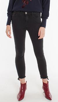 Укороченные джинсы-скинни Pinko черного цвета, фото