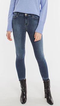 Узкие джинсы Pinko темно-синего цвета, фото
