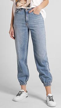 Женские джинсы Pinko с брендовой надписью, фото