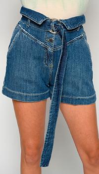 Джинсовые шорты Pinko с поясом, фото