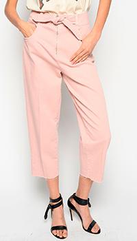 Розовые джинсы Pinko с поясом, фото