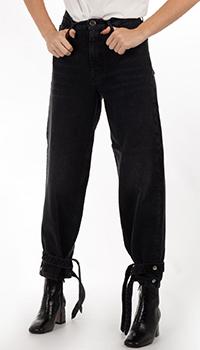 Черные джинсы Pinko с затяжками, фото
