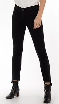 Укороченные джинсы Pinko черного цвета, фото
