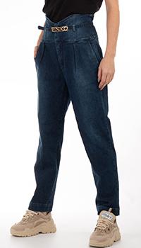 Синие джинсы Pinko с высокой талией, фото