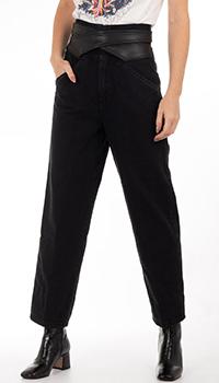 Черные джинсы Pinko с поясом, фото