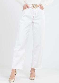 Белые джинсы Pinko с необработанным краем, фото