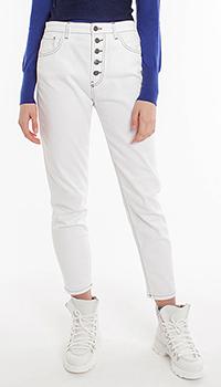 Укороченные джинсы Pinko с нашивками на карманах, фото