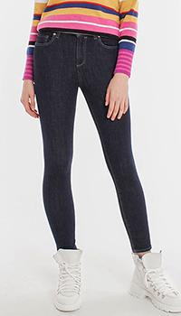 Укороченные джинсы Pinko темно-синего цвета, фото