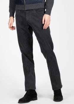 Темно-серые джинсы Scissor Scriptor с лого на заднем кармане, фото