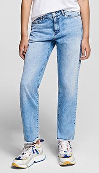 Прямые джинсы Karl Lagerfeld голубого цвета, фото