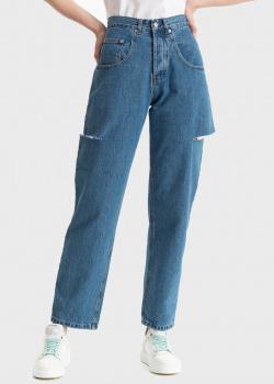 Синие джинсы Forte Dei Marmi Couture с разрезами, фото