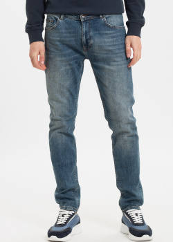 Синие джинсы Fred Mello с потертостями, фото