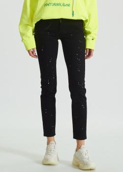 Черные джинсы Iceberg Ice Play с брызгами краски, фото