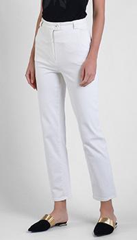 Укороченные джинсы Patrizia Pepe белого цвета, фото