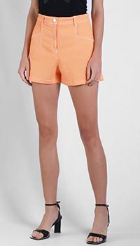 Джинсовые шорты Patrizia Pepe оранжевого цвета, фото