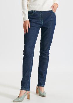 Темно-синие джинсы Kenzo с контрастной строчкой, фото