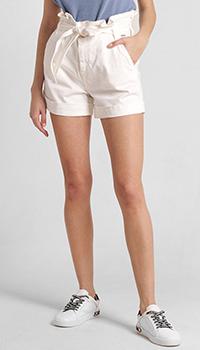 Джинсовые шорты Liu Jo белого цвета, фото
