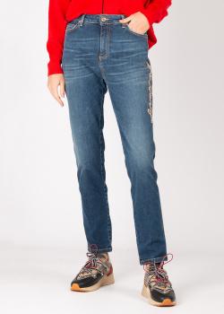 Синие джинсы Ermanno Ermanno Scervino с логотипом, фото