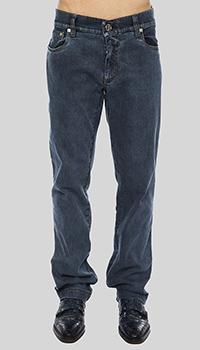 Прямые джинсы Billionaire темно-синего цвета, фото
