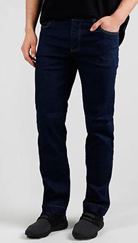 Джинсы синие Billionaire с лого на заднем кармане, фото