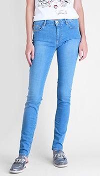 Женские джинсы Trussardi Jeans голубого цвета, фото