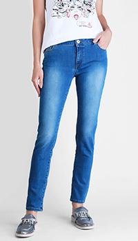 Узкие джинсы Trussardi Jeans голубого цвета, фото