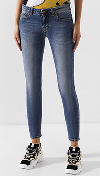 Хлопковые джинсы-скинни Iceberg синего цвета, фото