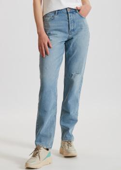 Голубые джинсы Miss Sixty с потертостями, фото