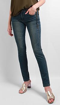 Укороченные джинсы Luisa Cerano синего цвета, фото