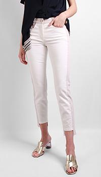 Бежевые джинсы Luisa Cerano с лампасами, фото