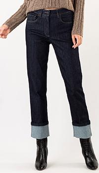 Прямые джинсы Luisa Cerano синего цвета, фото