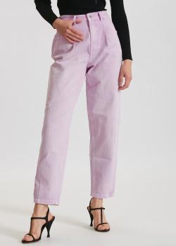 Сиреневые джинсы Miss Sixty с защипами, фото