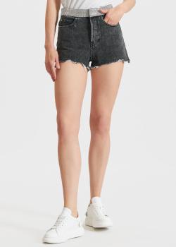 Джинсовые шорты Miss Sixty со стразами на поясе, фото