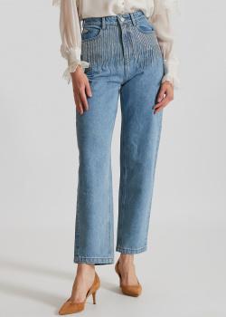 Голубы джинсы Miss Sixty с декором-цепочками, фото