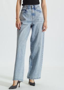 Голубые джинсы-палаццо Miss Sixty с декором сзади, фото