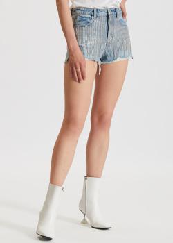 Джинсовые шорты Miss Sixty с декором-цепочками, фото