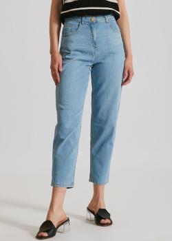 Голубые джинсы Elisabetta Franchi с эффектом потертости, фото