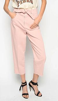 Укороченные джинсы Pinko розового цвета, фото