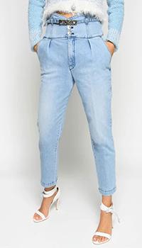 Голубые джинсы Pinko с высокой талией, фото