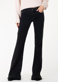 Расклешенные джинсы J Brand черного цвета, фото