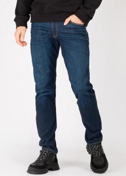 Зауженные джинсы Emporio Armani синего цвета, фото