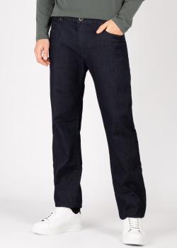 Темно-синие джинсы Emporio Armani с лого на заднем кармане, фото