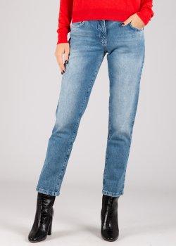 Прямые джинсы Patrizia Pepe голубого цвета, фото