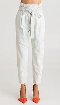 Голубые джинсы Patrizia Pepe с высокой талией, фото