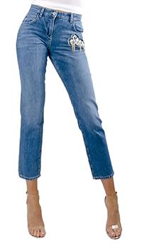 Укороченные джинсы Patrizia Pepe синего цвета, фото