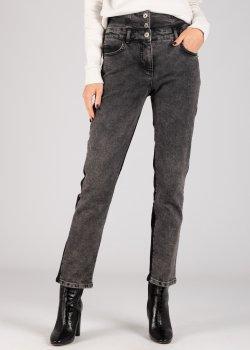 Серые джинсы Patrizia Pepe с высокой талией, фото