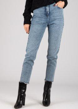 Зауженные джинсы Patrizia Pepe голубого цвета, фото